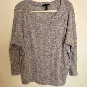 FOREVER 21 3/4 SLEEVE SWEATER-L EUC